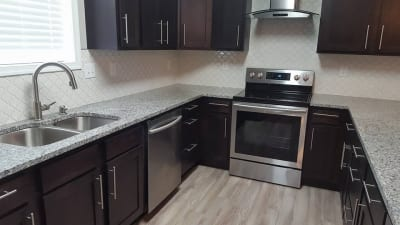 A recently remodeled kitchen