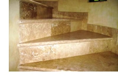 Marble tiling for indoor staircase