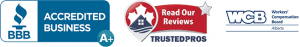 BBB Accredited Business A+, Read Our Reviews TrustedPros, WCB